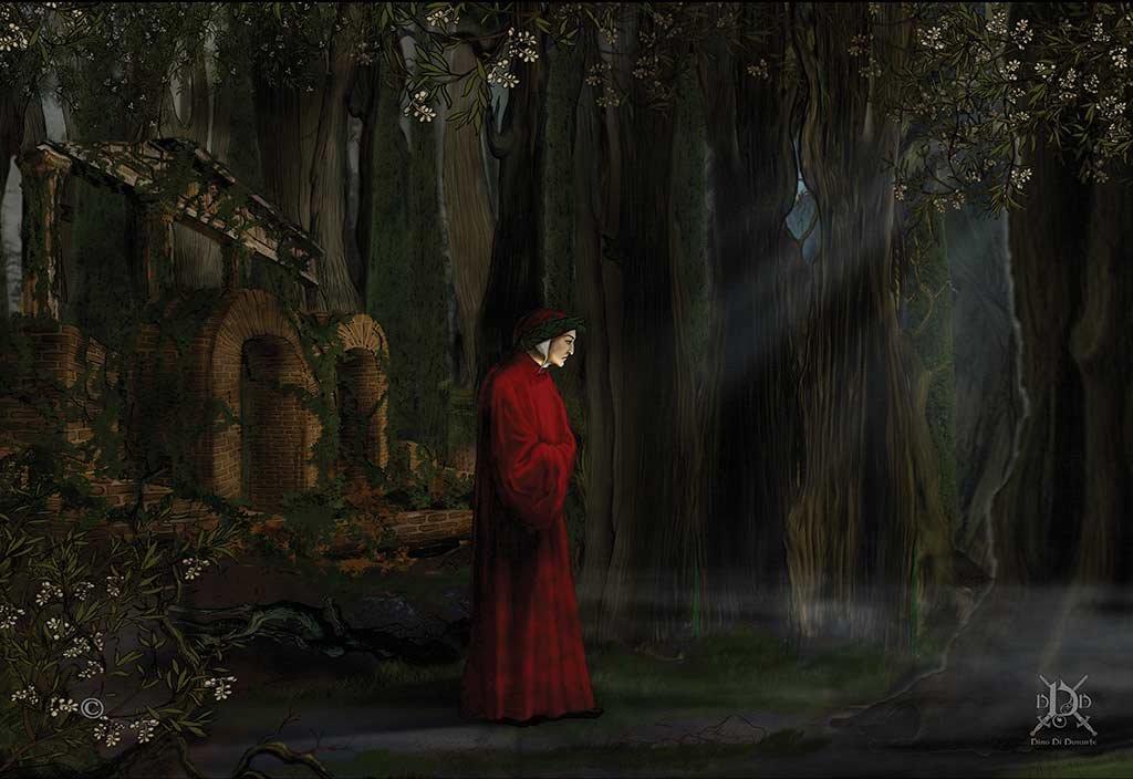 Dante's Inferno - 1300 AC, Cuma, Italy. Dante re-finds himself lost in a dark forest