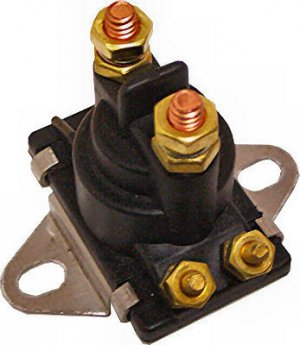 Marine 12V Solenoid for Mercury Mercruiser 35-275 HP replaces 89-96158T Curved Base (TM5817)