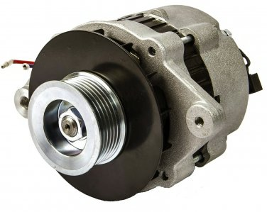 55 Amp 12V Marine Alternator with Serpentine Pulley for Mercruiser Replaces 807652T  (TM5967)