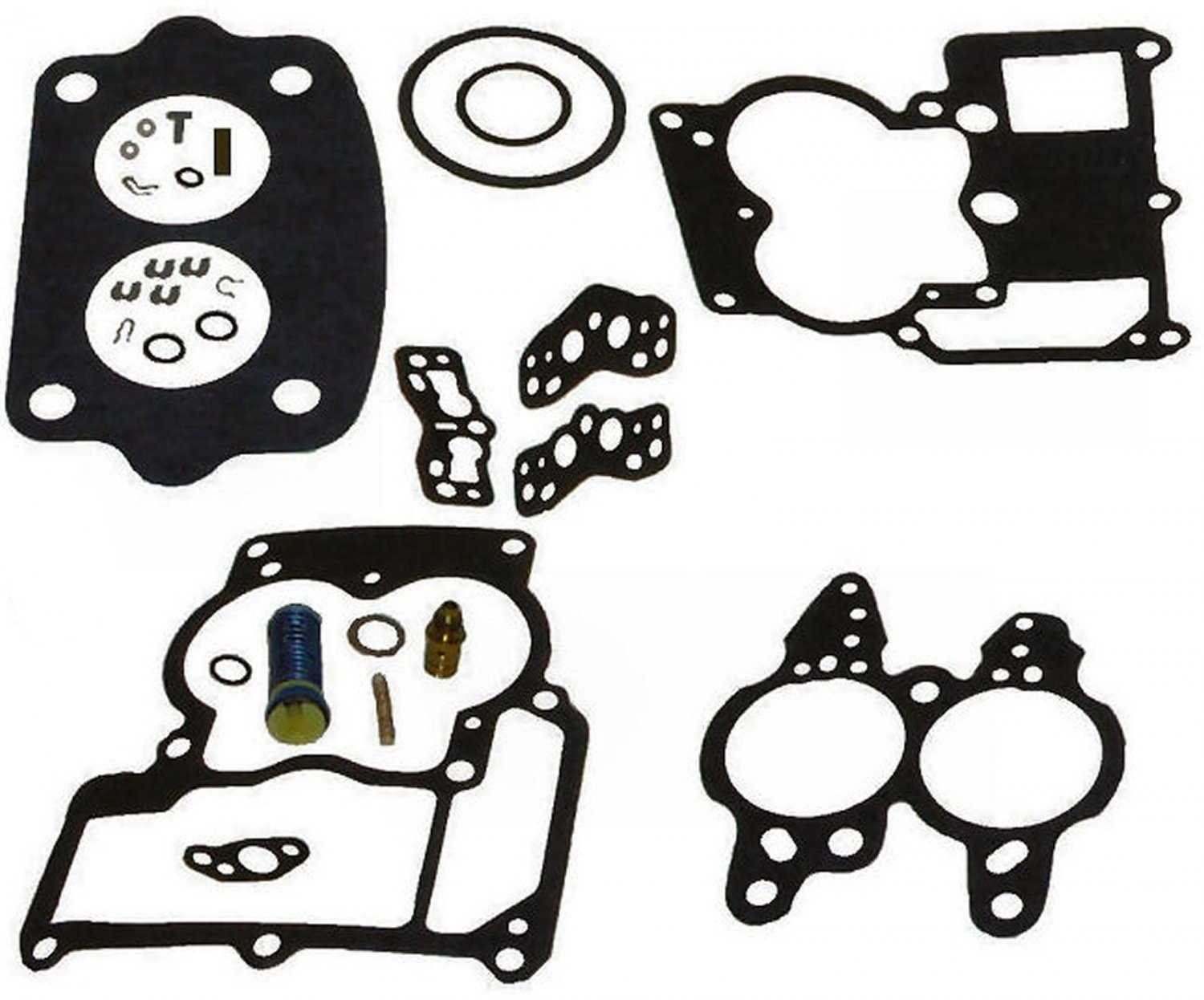 2BBL Rochester Carburetor Repair Kit for Inline 4 and 6 cyl GM replaces 823427A1 982384 (TM7746)