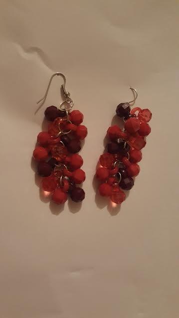 Bold Red Earrings