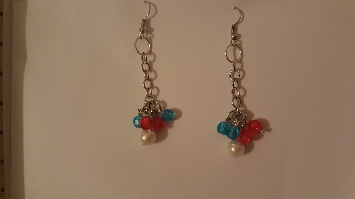 Independence Day Inspired Dangling Earrings