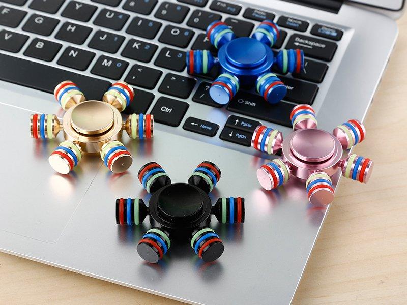 Fidget Spinner Metal EDC Hand Spinner DIY Brass Finger Spinner For Autism ADHD