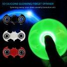 Light in Dark Batman Hand Spinner Tri Fidget Spinner Glowing Finger Stress ADHD EDC