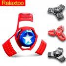 Captain America Hand Spinner EDC Metal Tri Fidget Spiner Superman Batman Spider