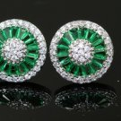 Perfect Quality, Stunning, AAA Italian Zircon. White Gold Plated Studs Earrings For Women!!!