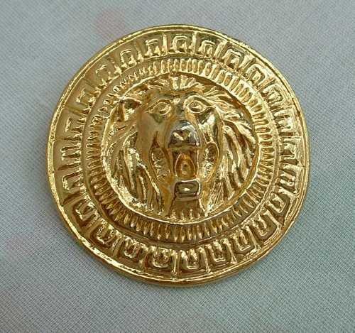 Roaring Lion Goldtone Brooch Pin Jewelry