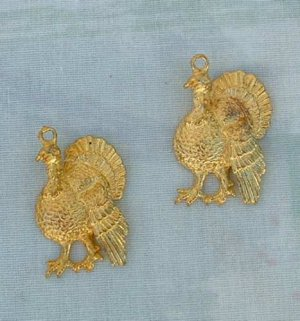 Pair Turkey Necklace Pendants Phister Ent 1996