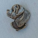 Newfoundland Dog Pewter Lapel Pin Jewelry