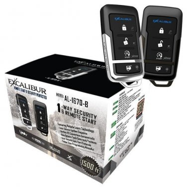 EXCALIBUR AL-1670-B - Deluxe 1-Way Vehicle Security & Remote Start system