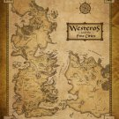 Game Of Thrones Seven Kingdoms Map Art 32x24 Poster Decor