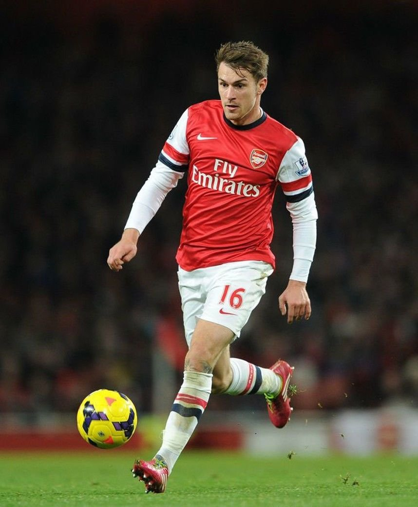 Aaron Ramsey Football Star Art 32x24 Poster Decor