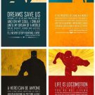 SuperHero Quotes Art Art 32x24 Poster Decor