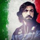 Andrea Pirlo Football Star Art 32x24 Poster Decor