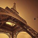 Eiffel Tower Landscape Art 32x24 Poster Decor