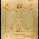 Vitruvian Man Art 32x24 Poster Decor