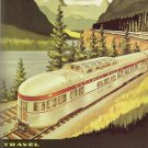 Vintage Train Travel Art 32x24 Poster Decor