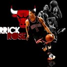 Derrick Rose Basketball Star Art 32x24 Poster Decor