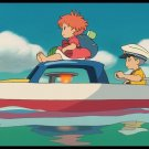 Ponyo Animated Film Art 32x24 Poster Decor