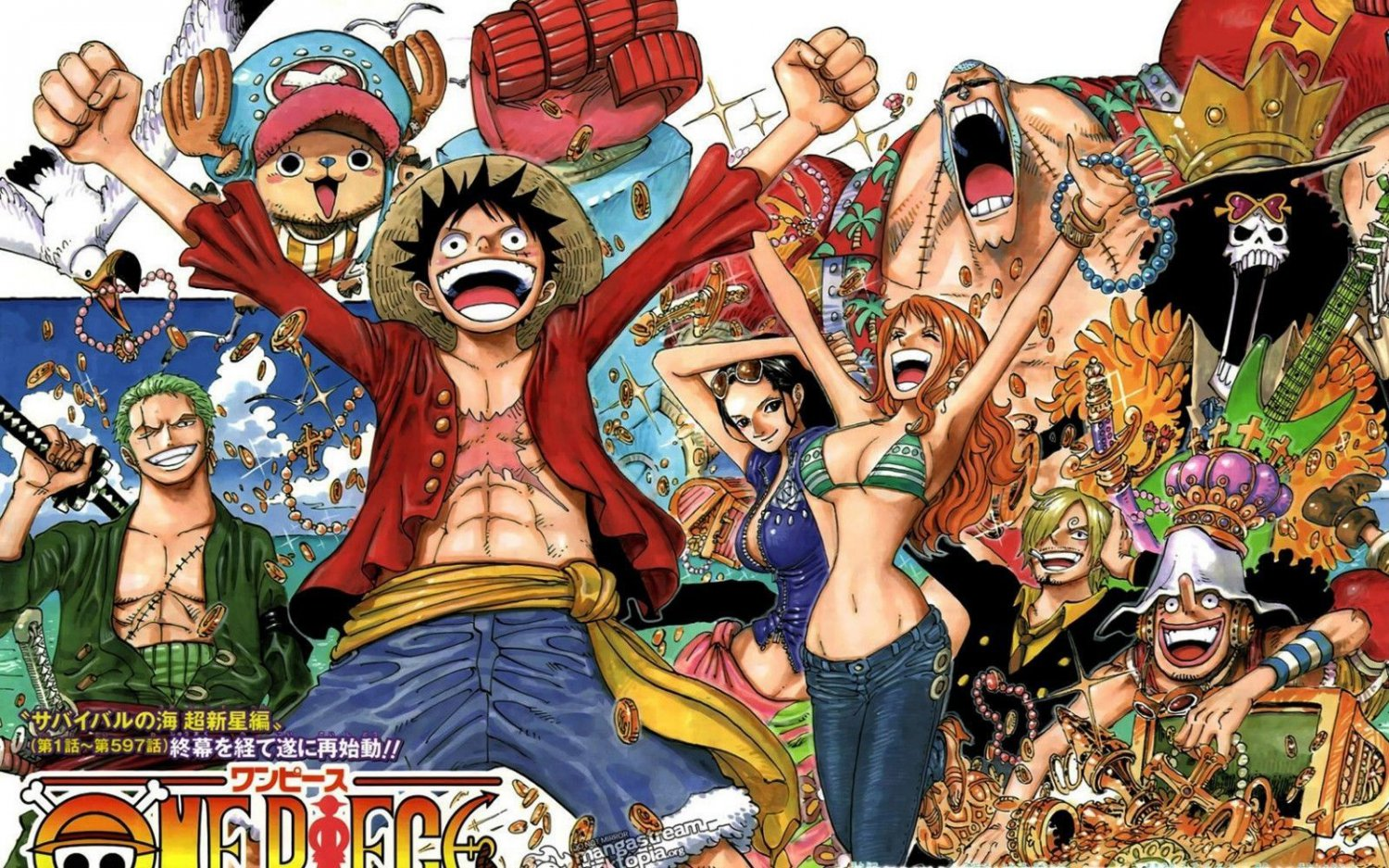 One Piece Luffy Japan Anime Art 32x24 Poster Decor