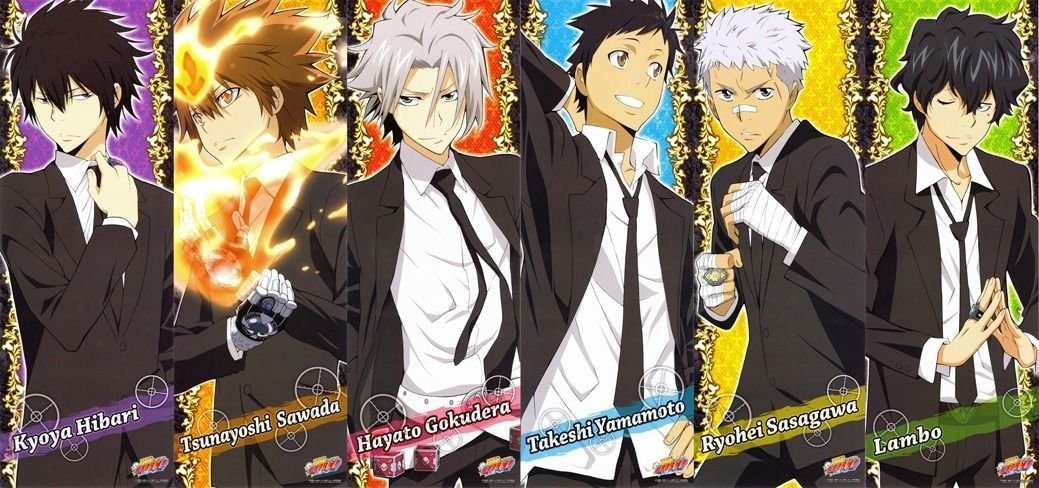 Katekyo Hitman Reborn Anime Art 32x24 Poster Decor