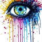 Peacock Eye WaterColour Art 32x24 Poster Decor