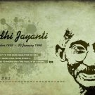 Mahatma Gandhi Art 32x24 Poster Decor