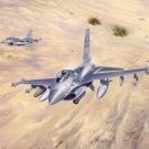 F 16 Fighting Falcon Fighter Art 32x24 Poster Decor