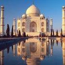 India Taj Mahal Art 32x24 Poster Decor