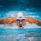 Michael Phelps Swimmers Art 32x24 Poster Decor