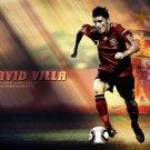 David Villa Football Star Art 32x24 Poster Decor