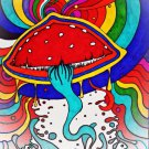 Psychedelic Trippy Art Art 32x24 Poster Decor