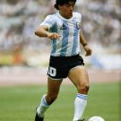 Maradona Football Star Art 32x24 Poster Decor