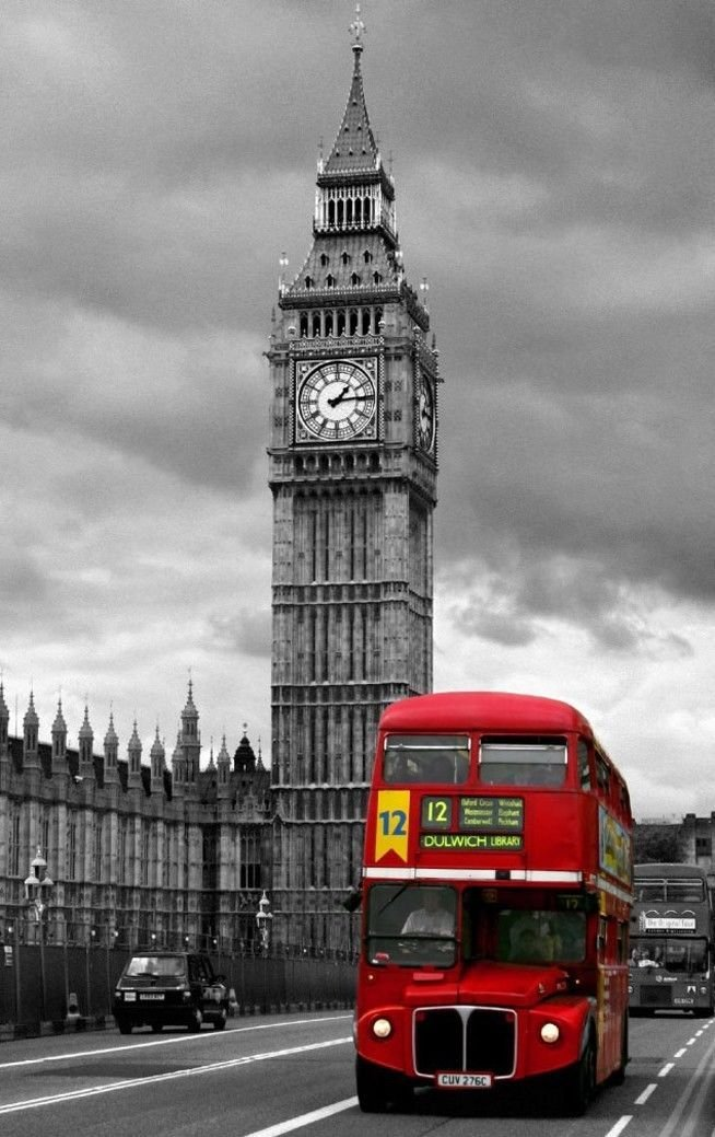 London England Big Ben Art 32x24 Poster Decor