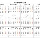 Calendar 2016 Year Art 32x24 Poster Decor