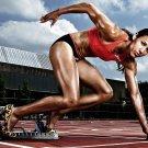 Lolo Jones Field Athlete Art 32x24 Poster Decor