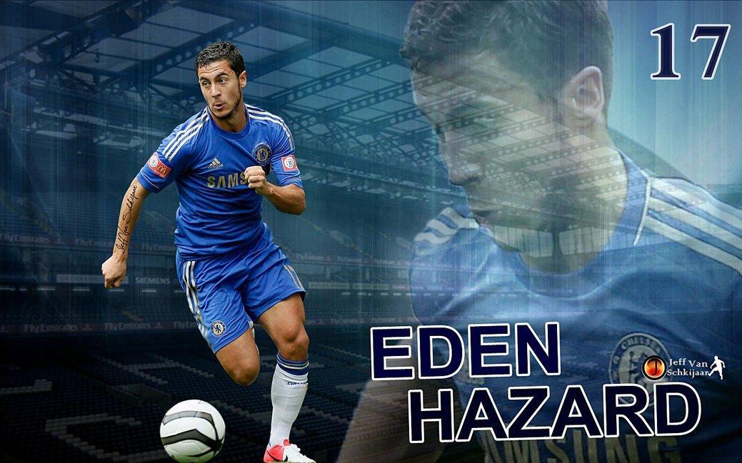 EdenHazard Football Soccer Star Art 32x24 Poster Decor