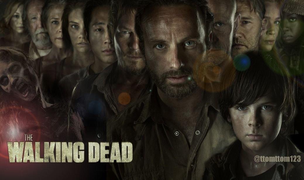 The Walking Dead 1 2 3 4 Art 32x24 Poster Decor