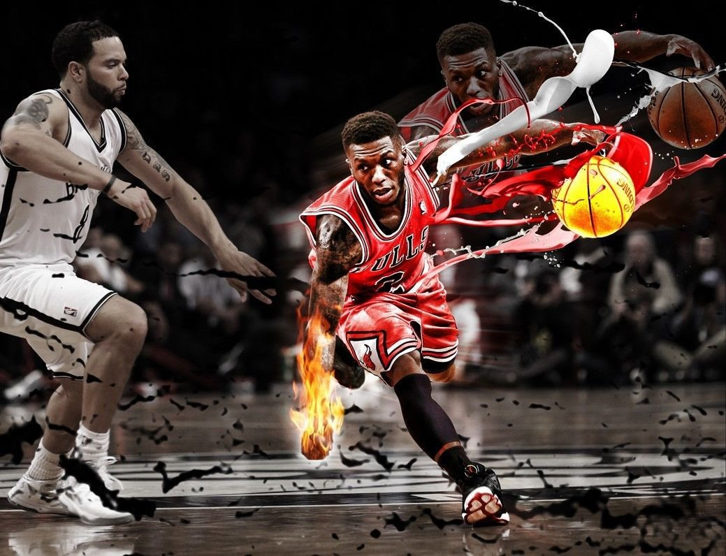 Nate Robinson Basketball Star Art 32x24 Poster Decor