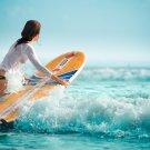 Surfer Art 32x24 Poster Decor