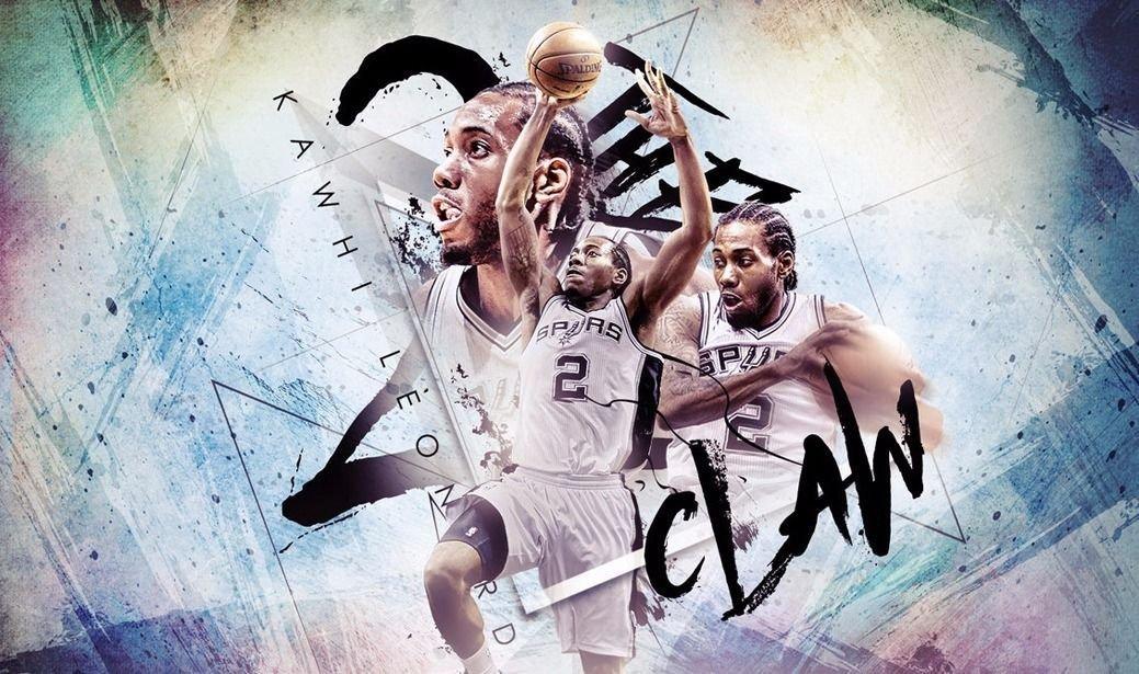 Kawhi Leonard Basketball Star Art 32x24 Poster Decor