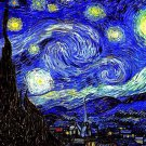 Vincent Van Gogh Starry Night Art 32x24 Poster Decor
