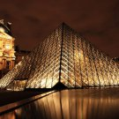 Louvre Museum At Night Art 32x24 Poster Decor
