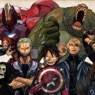 One Piece Avengers Anime Art 32x24 Poster Decor