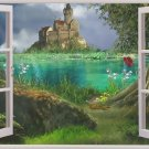 Window Outdoor Landscape Home Decor Art 32x24 Poster Decor