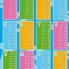 Mathematics Multiplication Table Art 32x24 Poster Decor