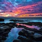 Sunset Sea Beach Landscape Art 32x24 Poster Decor