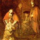 Rembrandt Return Of The Prodigal Son Art 32x24 Poster Decor