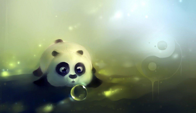 Curious Panda Art 32x24 Poster Decor