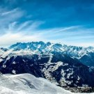 Alps Snow Mountains Art 32x24 Poster Decor
